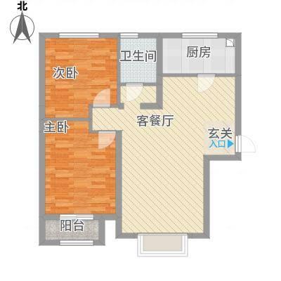 京润现代城7.70㎡2户型2室2厅1卫1厨-副本