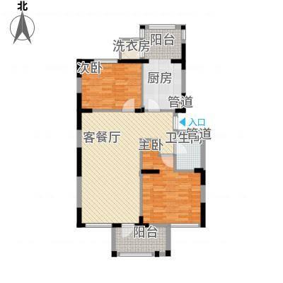 龙泽苑东区107.10㎡户型2室2厅1卫1厨-副本