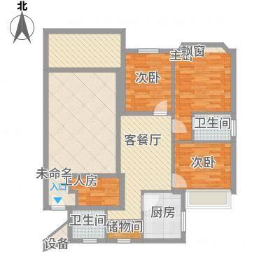 王府花园130.00㎡王府花园户型图3室2厅2卫1厨户型10室-副本