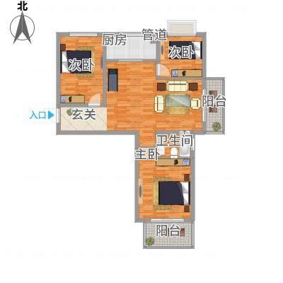 教授花园二期113.40㎡A1户型3室2厅1卫1厨-副本