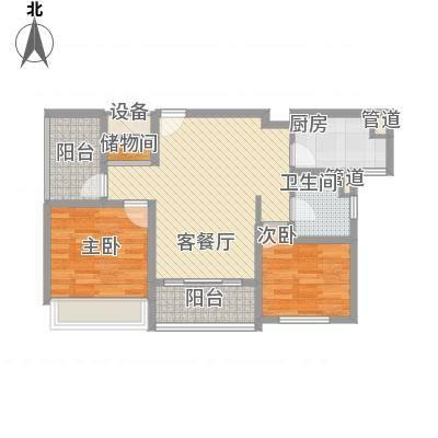 绿地卡米小城88.00㎡D-4户型2室1厅1卫1厨-副本