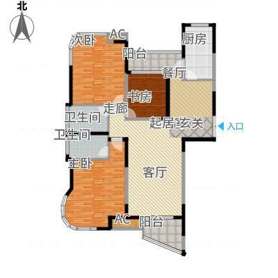 蓝天华门国际花园144.00㎡一期1-3号楼标准层B户型-副本