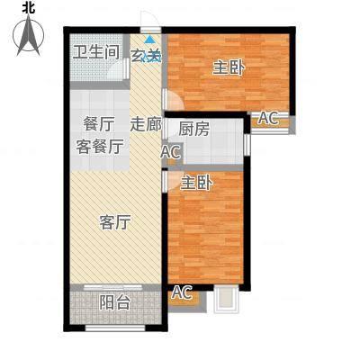海棠湾99.00㎡6号楼G2户型2室2厅-副本