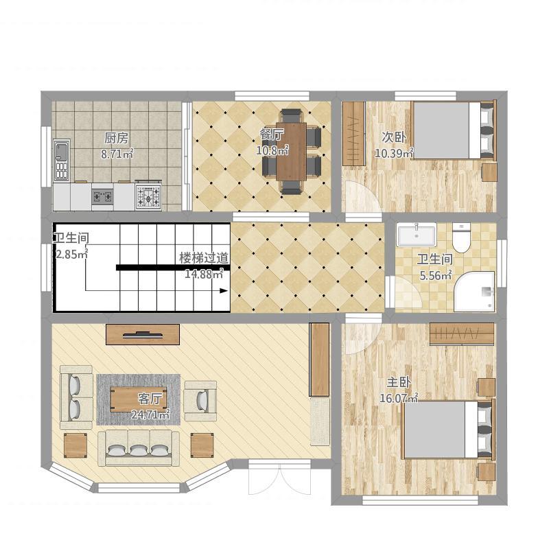 农村小户型2层楼房设计图
