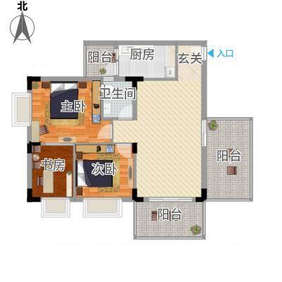 大信新家园户型2室2厅1卫1厨-副本