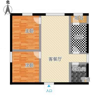 88方简约风格两居室
