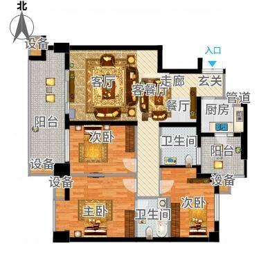 玉泉苑180.00㎡玉泉南苑户型3室2厅2卫1厨-副本