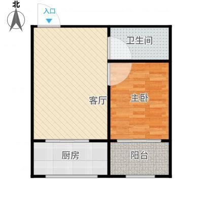 世水蓝庭户型1室1厅1卫1厨-副本