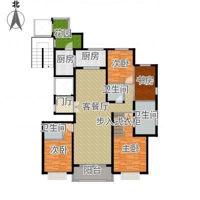 绿地内森庄园205.05㎡户型4室2厅3卫-副本