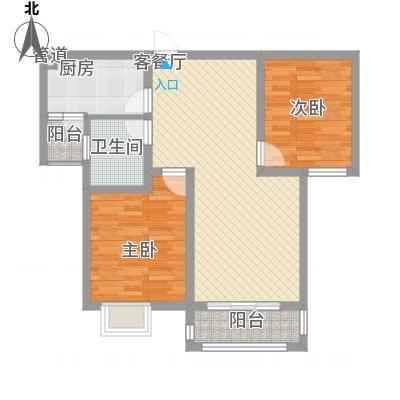 东城名邸92.28㎡东城名邸A2室2厅1卫1厨92.28㎡户型2室2厅1卫1厨-副本