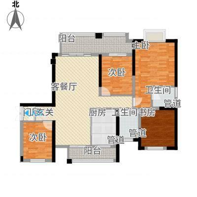 南门首府142.00㎡南门首府户型图户型图B4室2厅2卫1厨户型4室2厅2卫1厨-副本