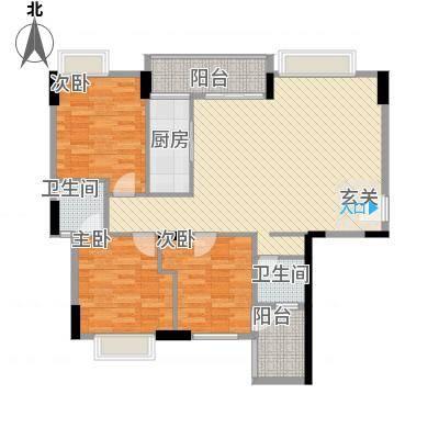 天和豪庭111.40㎡A户型3室2厅2卫1厨-副本