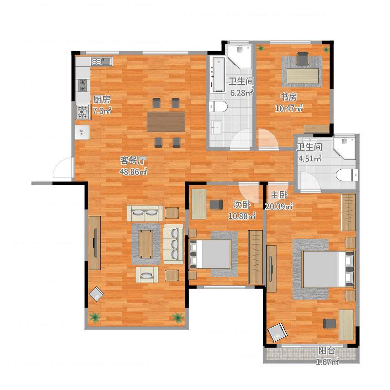 房间格局平面图设计步骤