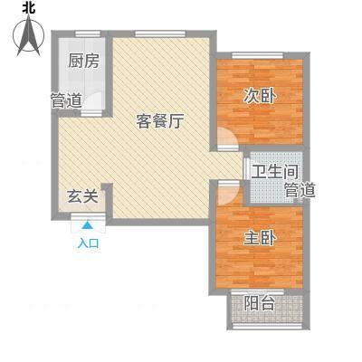 锦江华庭5.80㎡2#楼户型2室2厅1卫-副本