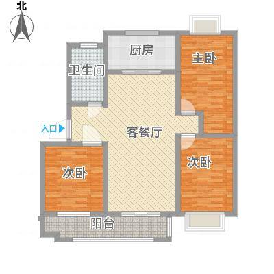 康乐新村105.00㎡康乐新村3室户型3室-副本
