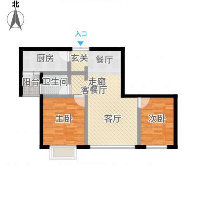 丽景天成65.57㎡面积6557m户型-副本