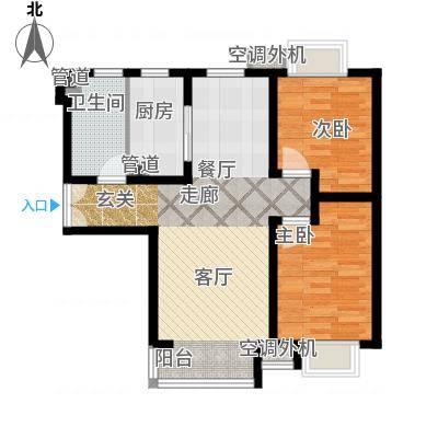 富地广场86.00㎡F3户型 两室两厅一卫户型2室2厅1卫