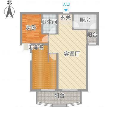金吉华冠苑一区4#、5#楼A2户型-副本