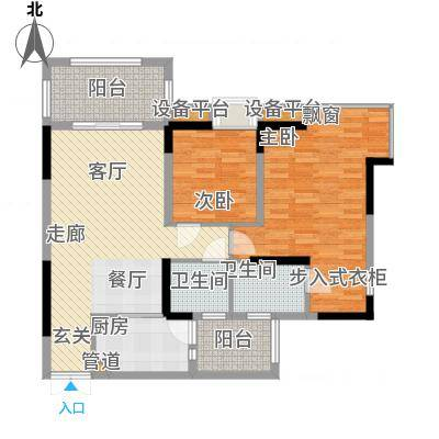 绿地翠谷勃朗廷84.29㎡标准层01面积8429m户型-副本