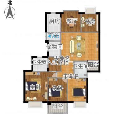 栖霞栖园164方G户型四室两厅