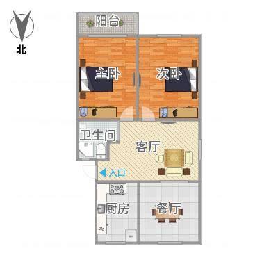 宝山路呼玛三村469号户型图-副本