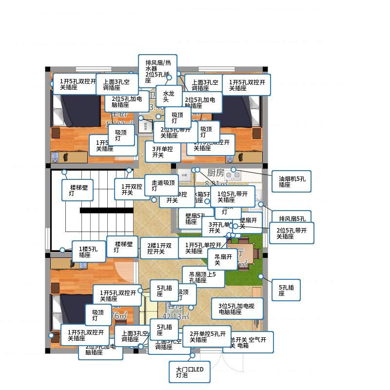 1楼平面图 户型图