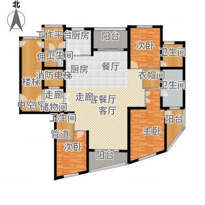 徐汇中凯城市之光255.00㎡3B户型-副本