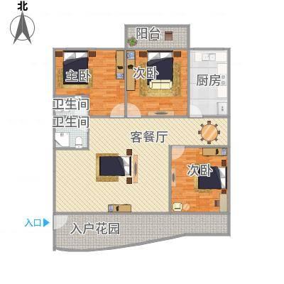 佳韵园126平3房