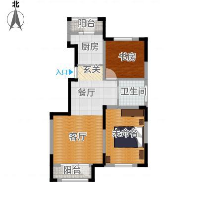 保利・春天里92平米户型2室2厅1卫(原始)