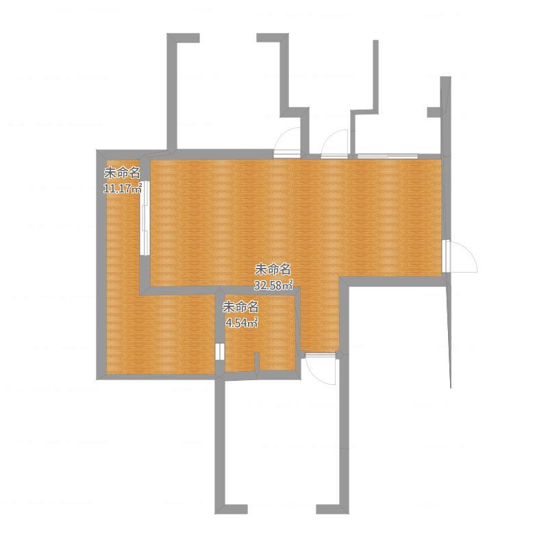 浙江 杭州 两房两厅平面图(酷家乐,ps) 户型图