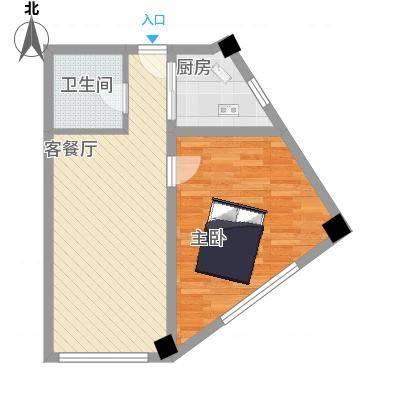 金坐标71.97㎡F户型2室1厅1卫-副本