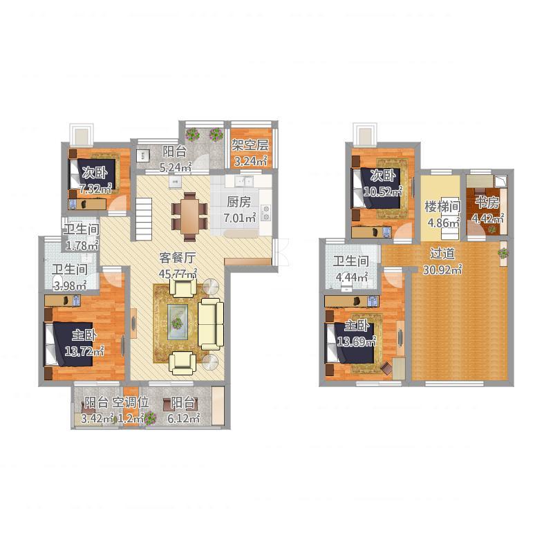 楼中楼现代风格楼盘风水分析,楼中楼现代风格小区房屋