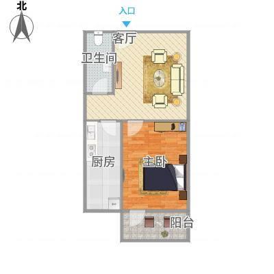 玉函新南区的一室户型图-副本