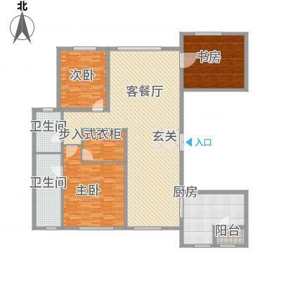 中庚当代艺术220.0㎡2号楼B户型3室2厅2卫1厨-副本