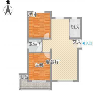 星光大道8112.20㎡8、10号楼A户型2室2厅1卫1厨-副本