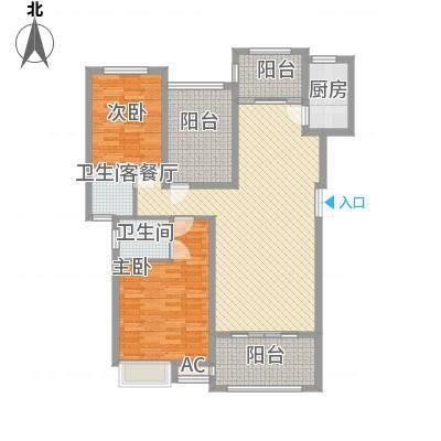 格兰小镇112.00㎡01-03栋洋房A户型2室2厅2卫-副本