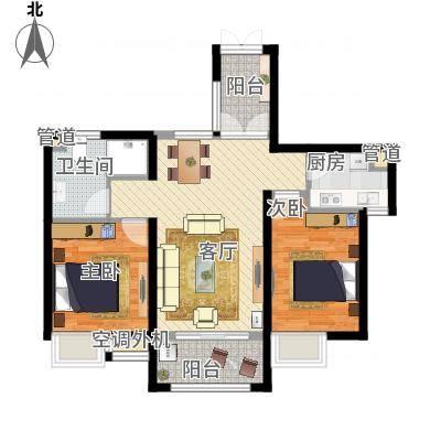 两室一厅一卫—三房朝南—双阳台(杭州湾世纪城)