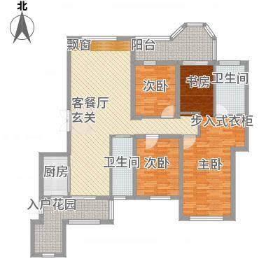 唐程御品121.20㎡12#01户型4室2厅2卫1厨-副本-副本