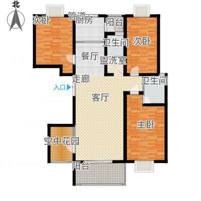 弘昌楚香苑140.00㎡16-A2户型3室2厅2卫-副本