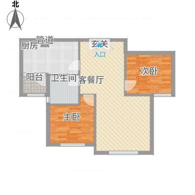 天房海天园高层标准层J户型-副本