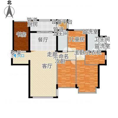 亿达东方圣克拉F户型3室2厅2卫1厨户型3室2厅2卫1厨-副