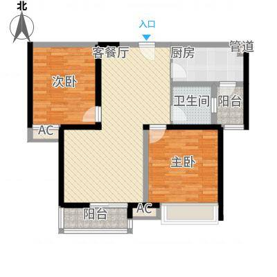 万华园丽景华都90.00㎡万华园丽景华都户型图2室2厅1卫90㎡户型2室2厅1卫-副本