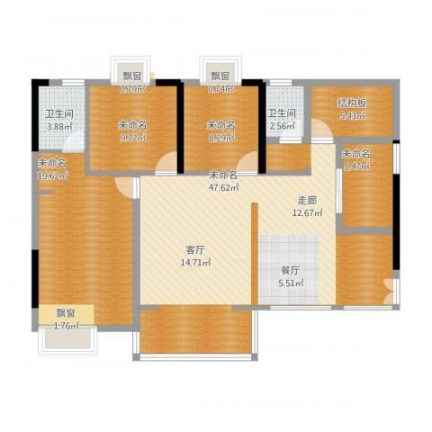 爵士湘二期119.20㎡1号栋C-1户型3室2厅2卫1厨-副本