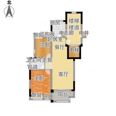水畔兰庭90.00㎡水畔兰庭户型图A户型-90㎡2室2厅1卫1厨户型2室2厅1卫1厨-副本