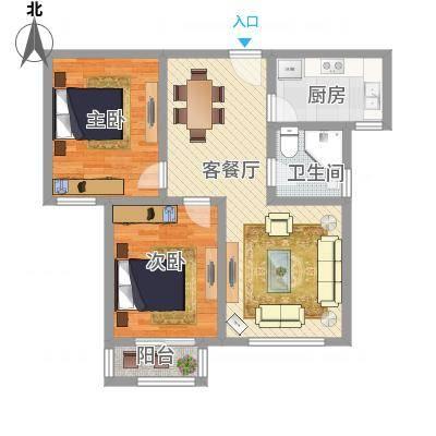 两室两厅一卫—两房朝南(星辰明珠)