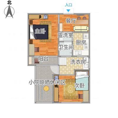 现代简约两居室