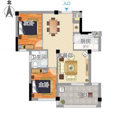 两室两厅一卫—两房朝南(东柳新村)