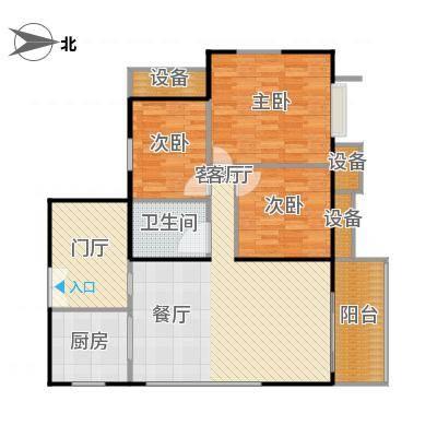 东华星域115.00㎡东华・星域B栋06单元3室户型-副本