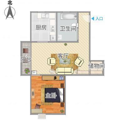 上海_丽泽荷亭苑A5型61.67平方_2015-09-30-1656