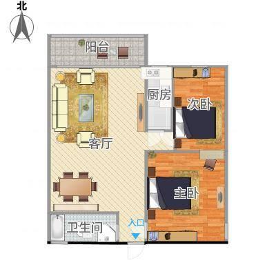 原始户型室两厅